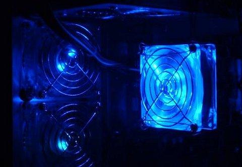 LED-fan met blauwe LED'jes