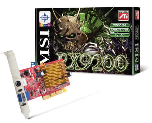 MSI-ATi kaartje: RX9200SE-T128 — RADEON 9200 SE