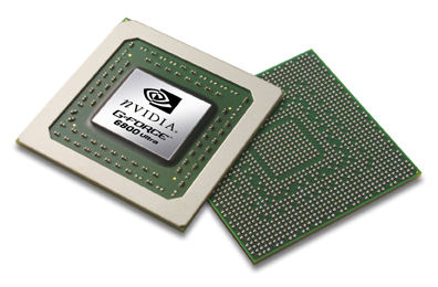 nVidia GeForce 6800 Ultra chip (groot, vrij)