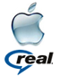 Apple en RealNetworks logo