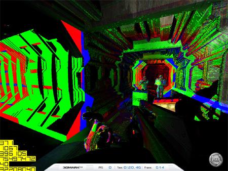Mipmap levels in 3DMark03 bij de Radeon 9800 XT