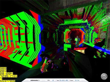 Mipmap levels in 3DMark03 bij de GeForce 6800 Ultra