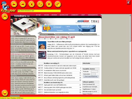 Tweakers.net in Krowser (klein)