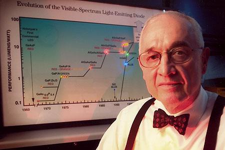 Nick Holonyak, uitvinder van de rode led