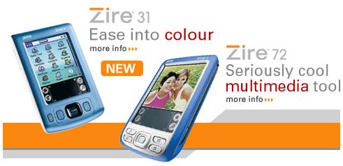 Palm Zire 31 en Zire 71