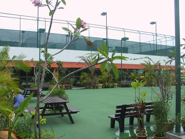 Tennisbaan in AMD-compex Singapore