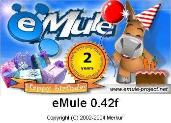 eMule 0.42f splashscreen (verjaardag special)