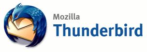 Mozilla Thunderbird logo (groot met tekst)