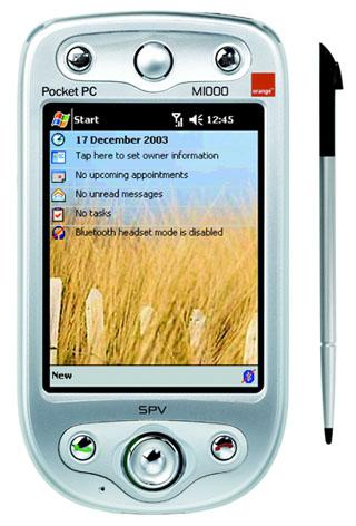 Orange SPV M1000 voorkant met stylus