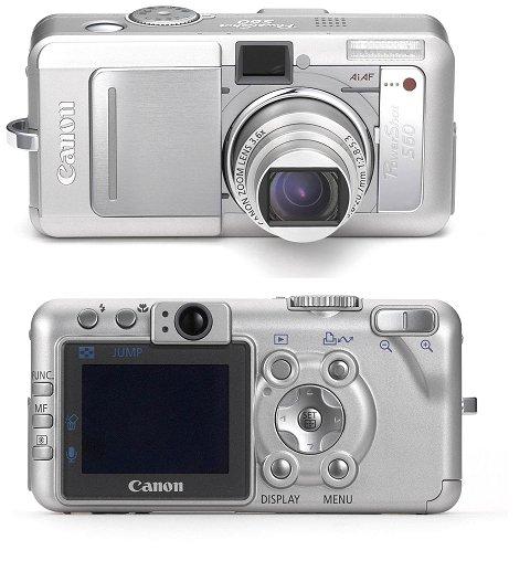 Canon PowerShot S60 (voor- en achterzijde, 480px)