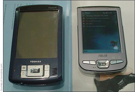 Toshiba Pocket PC naast Asus