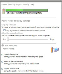 Windows Longhorn build 4074 - Power Status (klein)