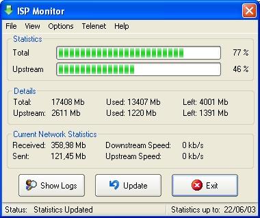 ISP monitor screenshot
