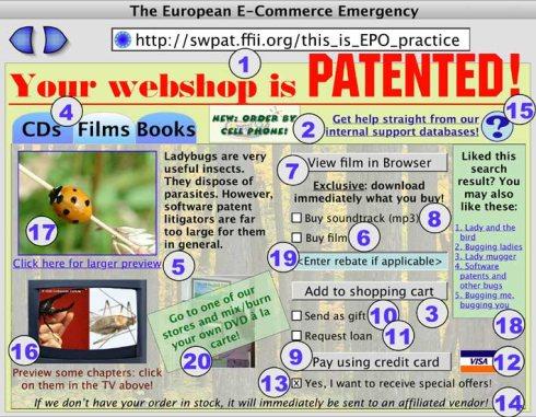 FFII - gepatenteerde webshop