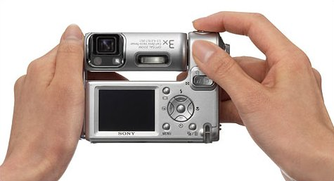 Sony DSC-F88 met roteerbare lens