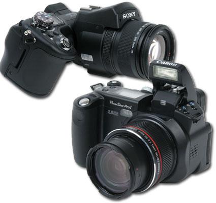 Canon Pro 1 en Sony F828