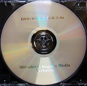 Dual layer dvd-schijfje van Verbatim