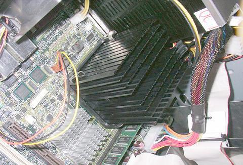 Pentium M Dothan onder passieve koeler