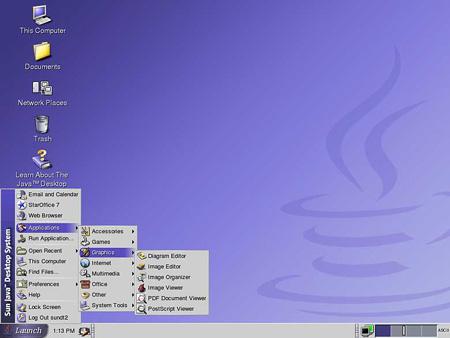 Sun Java Desktop System 2 (klein)