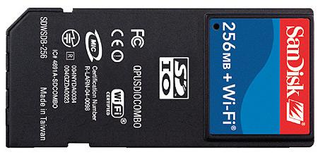 SanDisk 256MB SD-geheugen met WiFi