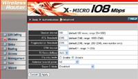 X-Micro interface screenshot (groot)