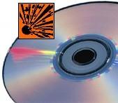 Zelfvernietigende wegwerp-dvd