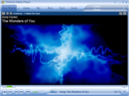 Windows Media Player 10 beta speelt muziekje