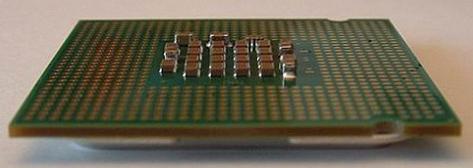 Pentium 4 Prescott - (op zijn rug gelegd)
