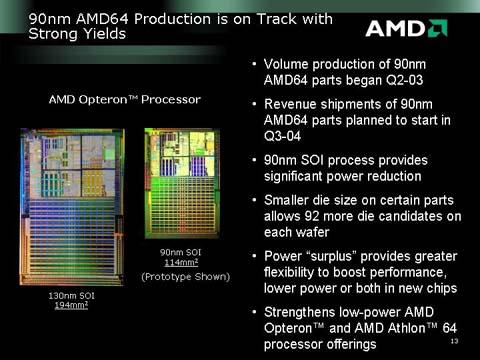AMD over zijn 90nm-procédé