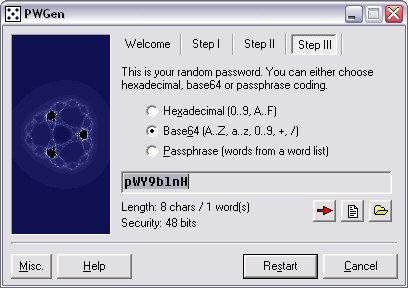 PWGen 1.40 screenshot