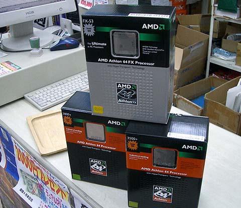 Athlon 64 3500+, 3800+, en FX-53 dozen
