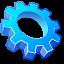 KDE Crystal gear