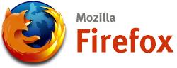 Mozilla Firefox logo (medium met tekst)