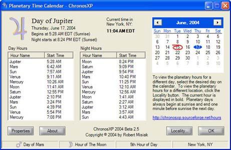ChronosXP calendar