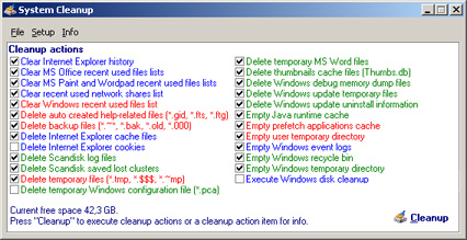 System Cleanup 1.3