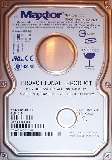 Maxtor MaXLine III 300GB harde schijf
