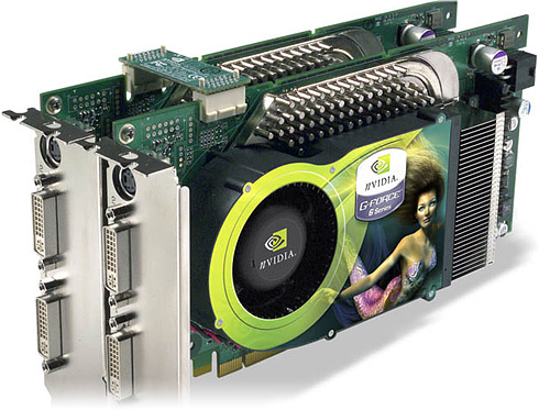Dual PCI Express GeForce 6800 Ultra in SLI-opstelling