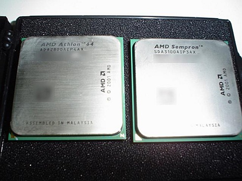 Athlon 64 2800+ en Sempron 3100+ in AMD-doosje