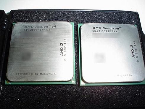 Athlon 64 2800+ en Sempron 3100+ in AMD-doosje