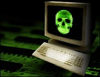 Virus - groene doodskop (kleiner dan kleiner)
