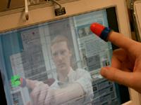 Facetop op beeldscherm met vingerhoedje (klein)