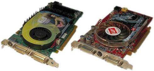 PCI Express-versies GeForce 6800 GT en Radeon X800 XT