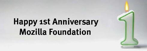 Mozilla Foundation is één jaar oud