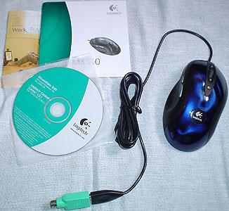 Inhoud van Logitechs MX510 retailbox