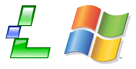 Lindows + Windows logo's