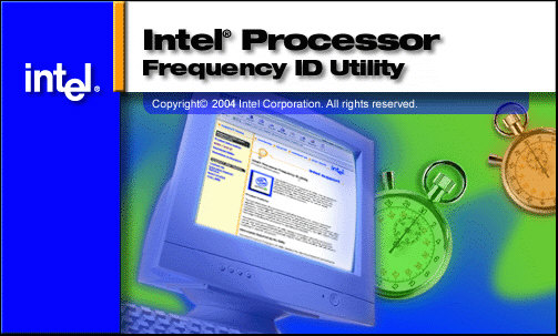Intel Processor Frequency ID Utility opstartscherm