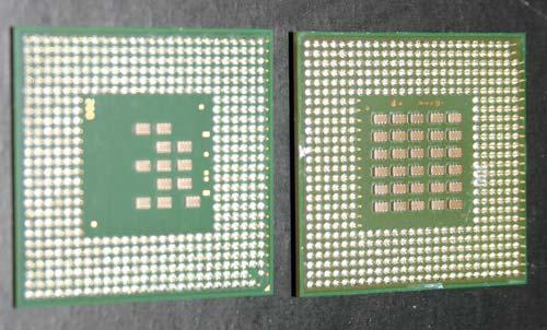 Pinlay-out Pentium M en Pentium IV