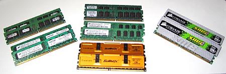 Verschillende DDR2-geheugenmodules