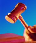 Hamer van president van de rechtbank, justitie, recht