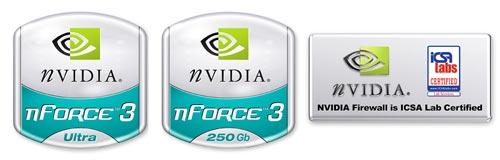 nVidia Gigabit LAN-logo's